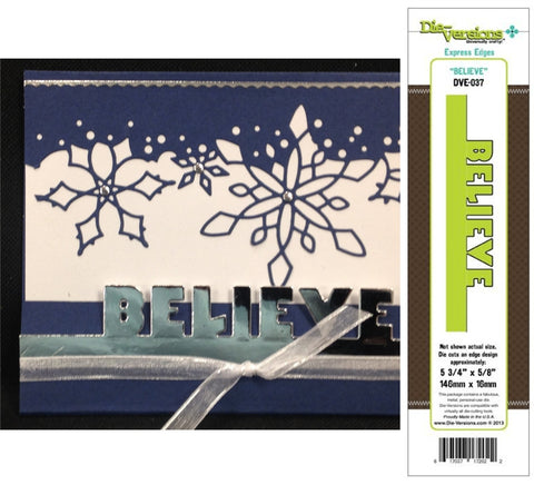 BELIEVE Express Edges Metal Die by DIE-VERSIONS DVE-037 - Inspiration Station Scrapbook Store & Retreat