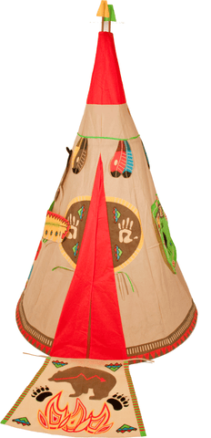 Traditional Garden Games Wigwam Play Tent Set