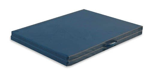 Exercise Mat W/Handles Grey Center-Fold 4' x 6' x 2