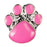 Mini Dawg Tag Shoe Charm - Pink Paw