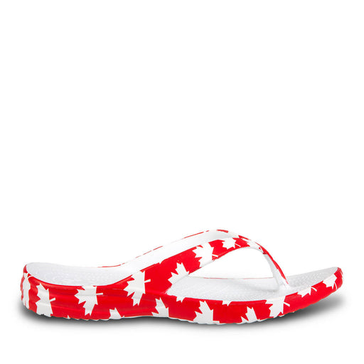 Men's Flip Flops - Canada (Red/White)