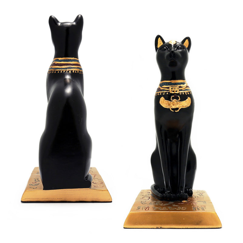 Featured Products, Bookends - Resin Bastet Cat Bookends In Pair, Black And Gold
