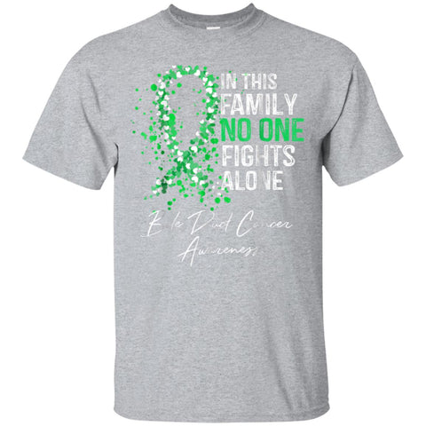 In This Family No One Fights Alone Shirt Bile Duct Cancer
