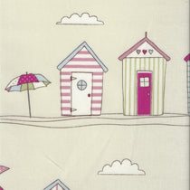 Beach Huts Pink PVC Tablecloth PVC Tablecloths