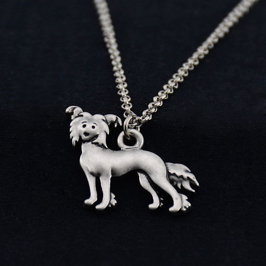 Chinese Crested Dog Vintage Necklace