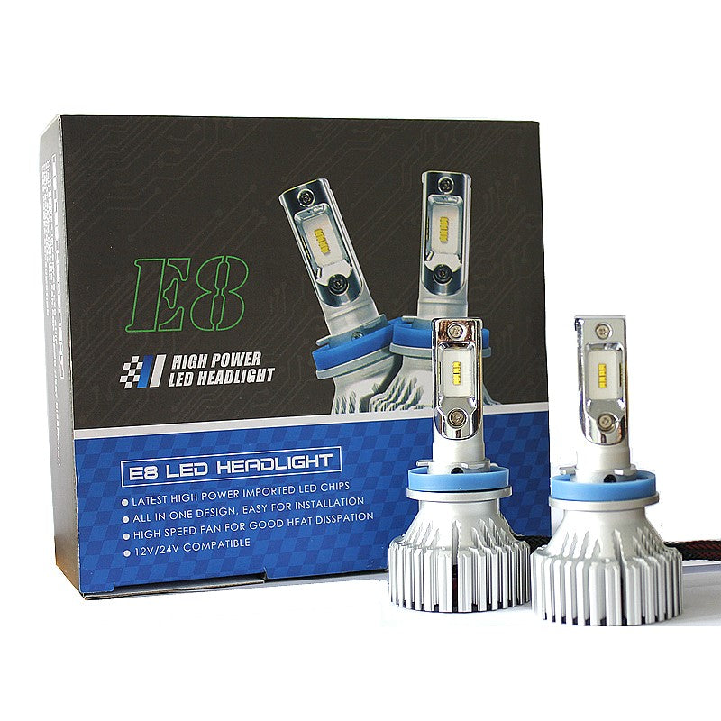 8000Lm & 60W/Set Philips ZES Auto LED Headlight Conversion Kit or LED FogLight Conversion Kit, Color White 6500K.