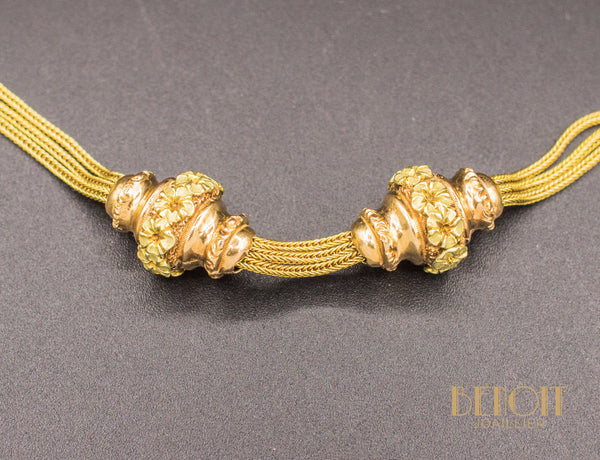 Collier Ancien Or Jaune et Or Rose