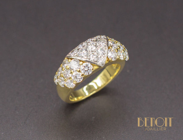Bague Fred Or Jaune Platine Diamants