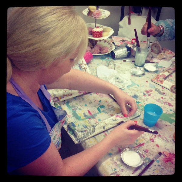 Decoupage and Image Transfer Workshop - 02/11/16 - Doris and Jeannie - 4