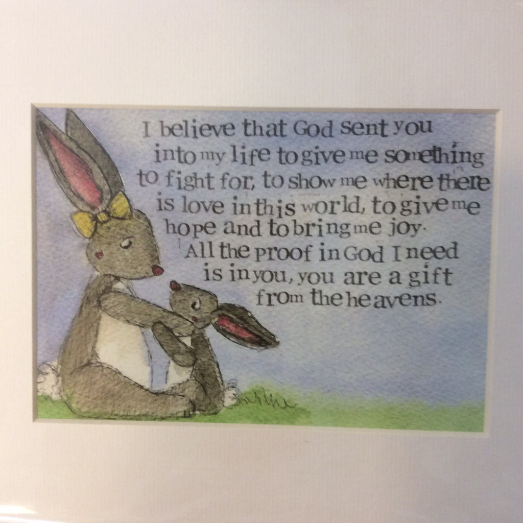 Greeting card- I believe that god sent you - Doris and Jeannie