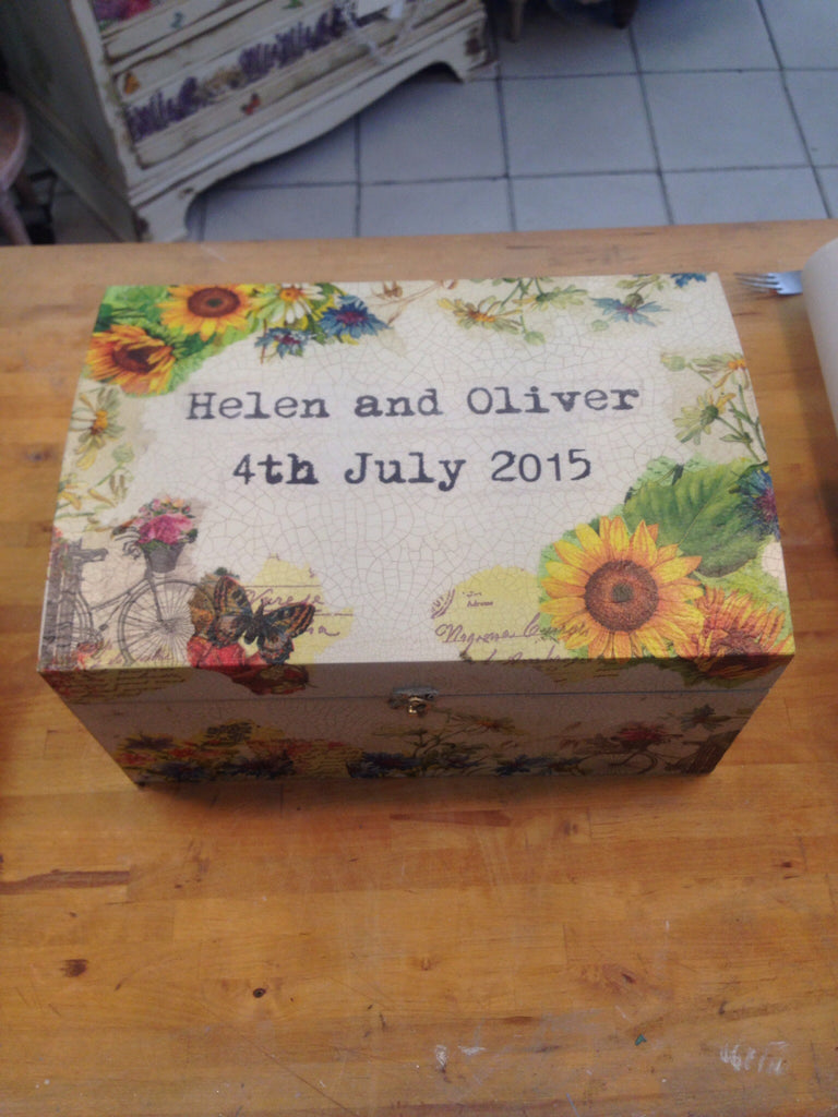 Large Personalised Memory Box - Doris and Jeannie