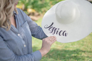 Perfectly Personalized Bridal Party Floppy Beach Hats