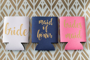 Maid of Honor and Bridal Party Can Cooler