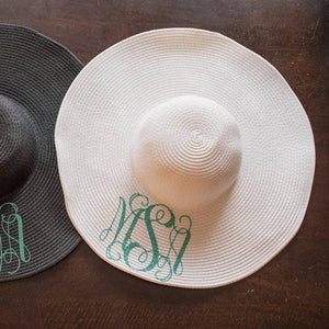 Personalized and Monogrammed Floppy Beach Hat