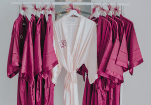 Satin Monogrammed Bridal Robe