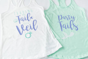 Mermaid Themed Bachelorette Party Shirts