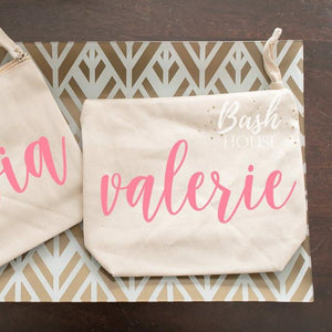 Personalized Bridesmaid Cosmetic Bag