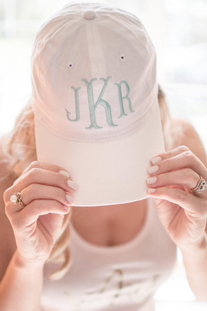 Personalized and Monogramed Bridesmaid Cap
