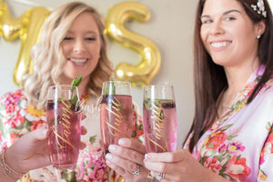 Personalized Champagne Glass Flute Bridesmaid Gift