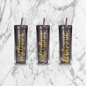 Personalized Bachelorette Bridal Party Skinny Tumblers