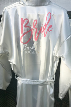 Satin Robe for Bride or Bridal Party
