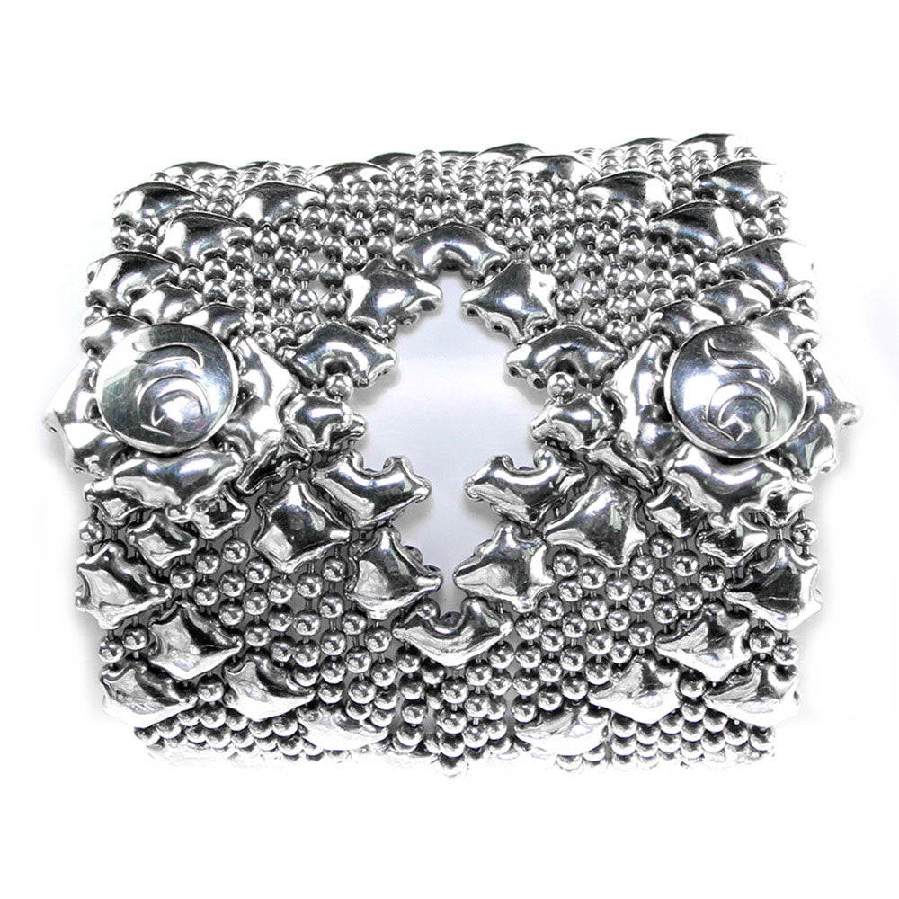 SG Liquid Metal B107-AS Antique Silver Bracelet