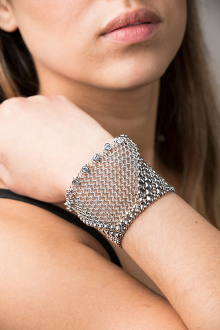 SG Liquid Metal Chainmail CMB6 Z - AS (antique silver finish) Bracelet