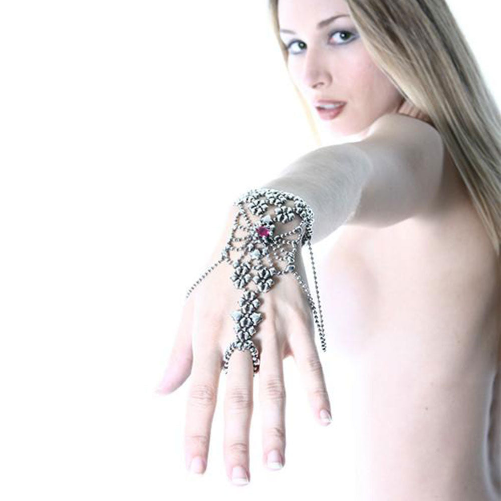SG Liquid Metal RTB19-AS Antique Silver Bracelet with Swarovsky Crystals