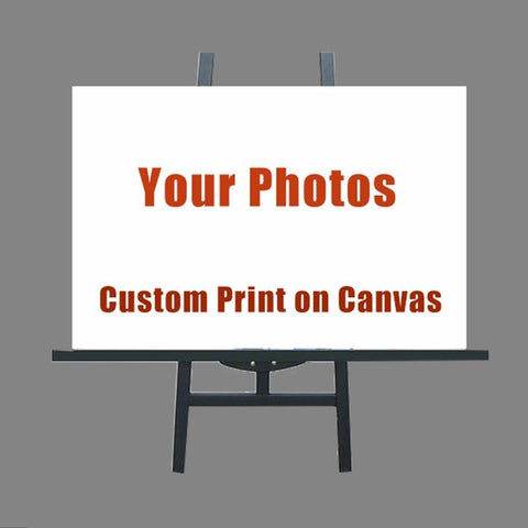 Custom 1 Panel Canvas Prints-(1) 28 inches x 39 inches (70cm x 100cmx 1 Pcs)-Framed-White-Cool Tees & Things