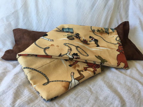 Handmade Cowboy-Themed Microwaveable Flannel Foot Warmer