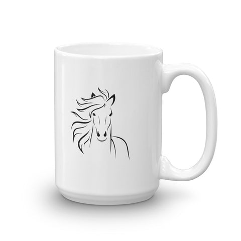 "Coffee Mug - ""The Only One Allowed to Talk to Me Before My Coffee Is My Horse"""