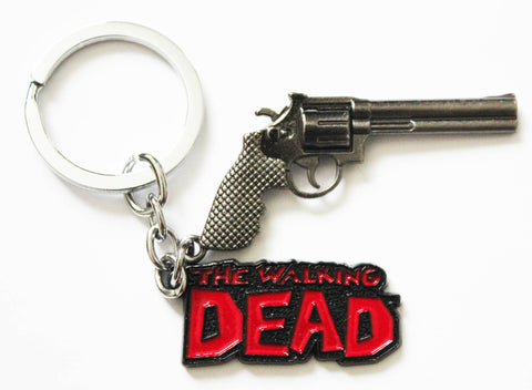 The Walking Dead - Logo and Rick Grimes' Colt Python Gun - Keychain