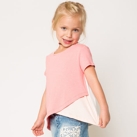 CrissCross Color Block T-Shirts for Girls