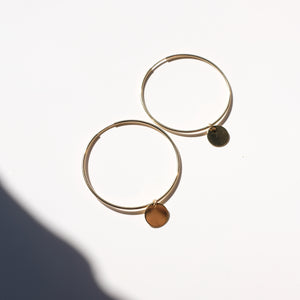 Coin Hoops- 45mm