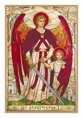 Arch Angel Raphael by Powell and Sons  Counted Cross Stitch or Counted Needlepoint Pattern - Orenco Originals LLC