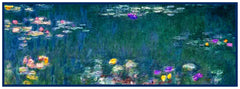 Water Lilies in Blues Runner inspired by Claude Monet's impressionist painting Counted Cross Stitch or Counted Needlepoint Pattern