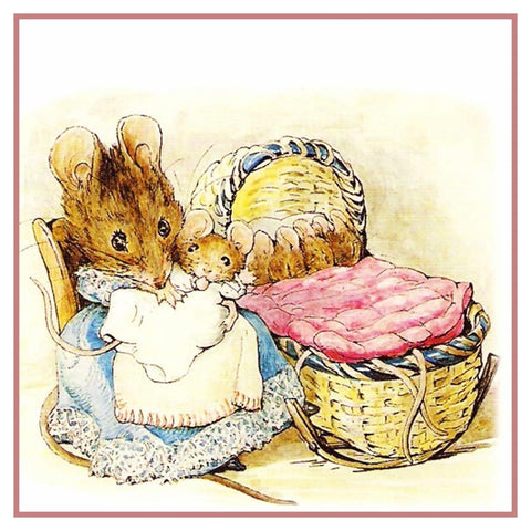 Hunca Munca and Her Babies nspired by Beatrix Potter Counted Cross Stitch or Counted Needlepoint Pattern
