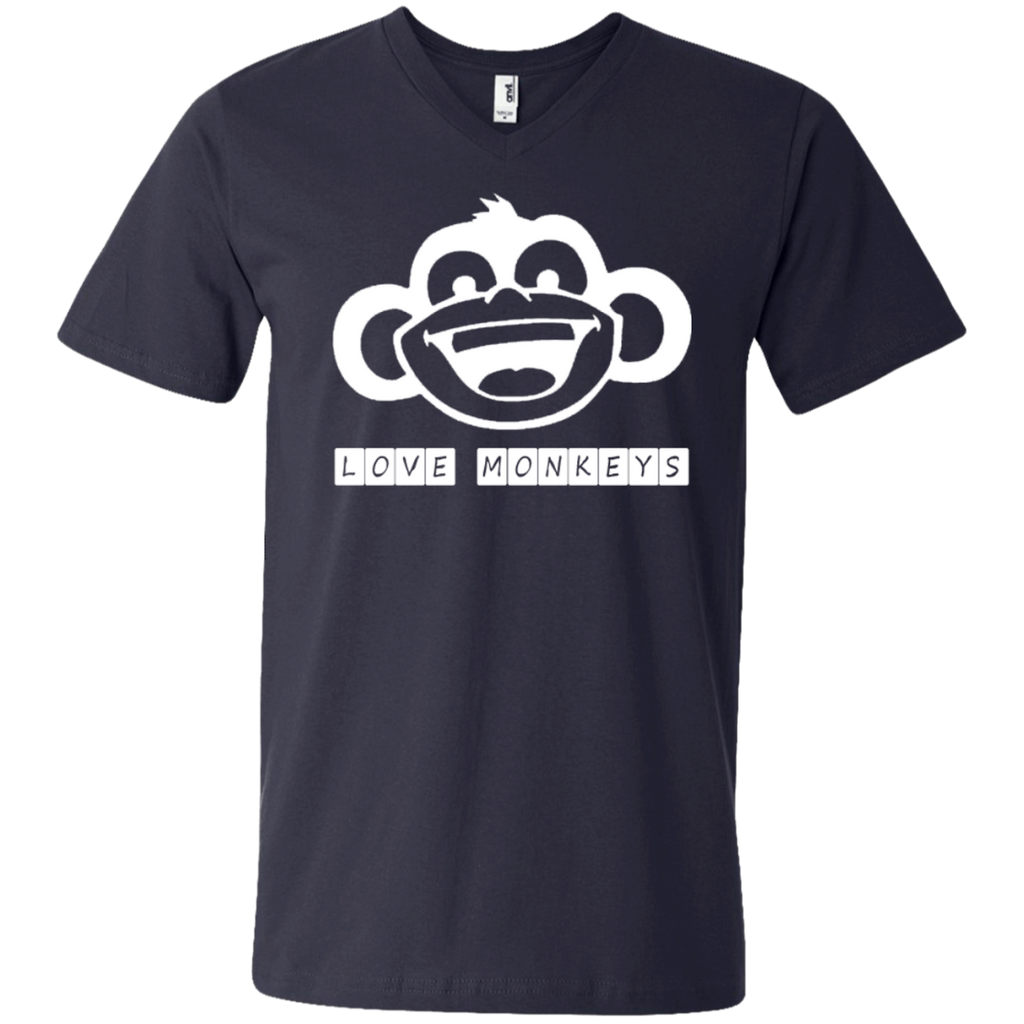 Love Monkeys Men's V-Neck T-Shirt