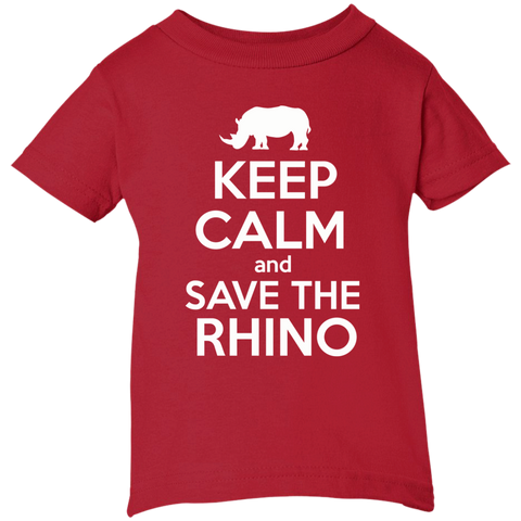 Keep Calm and Save the Rhino Infant T-Shirt