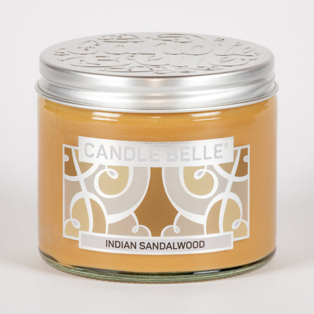 Candle Belle® Indian Sandalwood Fragranced Twin Wick Jar Candle 240g