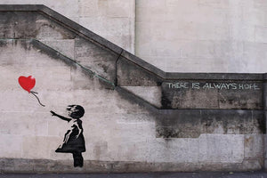 Banksy There Is Always Hope Wall Mural Wallpaper - Canvas Art Rocks - 1