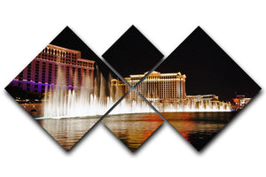 The Caesars Palace Hotel 4 Square Multi Panel Canvas  - Canvas Art Rocks - 1