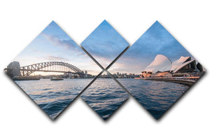 The Harbour Bridge 4 Square Multi Panel Canvas  - Canvas Art Rocks - 1