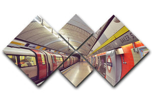Tube 4 Square Multi Panel Canvas  - Canvas Art Rocks - 1