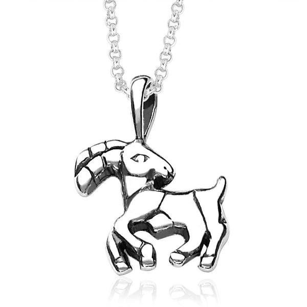 Taraash Aries Zodiac 925 Sterling Silver Pendant for Unisex PD0286AI-01