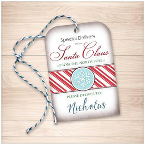 Special Delivery from Santa Claus - Personalized Gift Tags - Printable, at Printable Planning