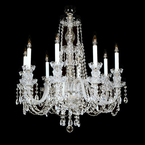 8 Light Crystal Chandelier 8-R-10 FA with Swarovski