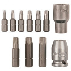 11 PC 3/8DR SOCKET/TORX BIT SET