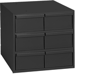 "11-5/8"" Deep - Steel - 6 Drawers (vertical) - for small part storage - Gray"