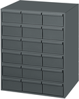 "11-5/8"" Deep - Steel - 18 Drawers (vertical) - for small part storage - Gray"